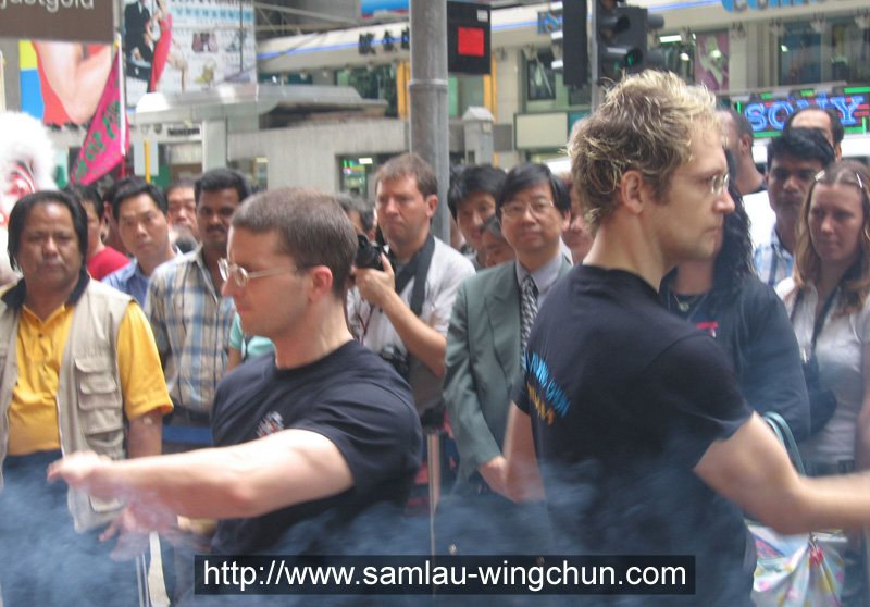 A Kung Fu demonstration at Nathan Road