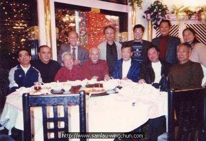 Gathering before Beijing for Wing Chun promotion with Wong Shun Leung, Sam Lau