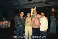 Tony Tsang, the Mexican champion, and Sam lau, the president of martial arts association in Indonesia